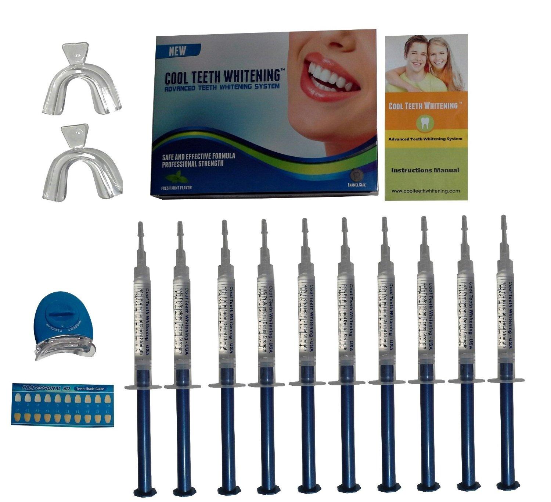 Cool Teeth Whitening Kit 10 Syringes Of 44 Carbamide